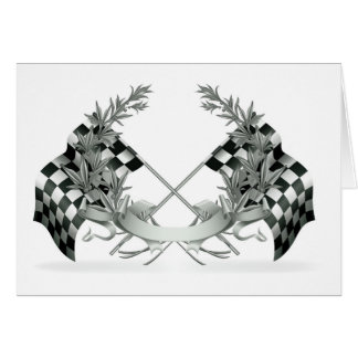 Auto Racing Race Car Thank You or Blank Note Card
