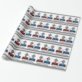 Auto Racing Wrapping Paper