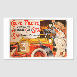 Auto Rally Race ~ Vintage Automobile Car Ad Sticker