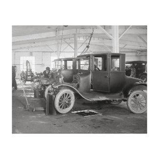 Auto Repair Garage, 1926. Vintage Photo Canvas Print