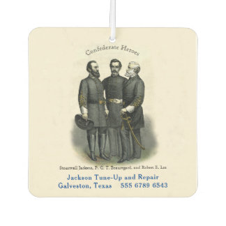 Auto Shop Confederate Heroes USA Template Air Freshener