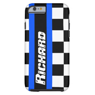 Auto sports chequered flag pattern name tough iPhone 6 case