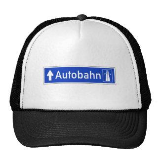 Autobahn, Traffic Sign, Germany Trucker Hat