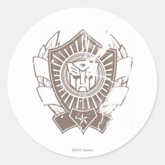 Autobot Distressed Badge 2 Classic Round Sticker