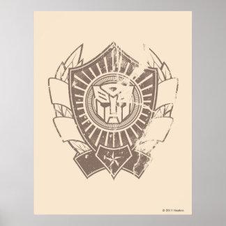 Autobot Distressed Badge Poster