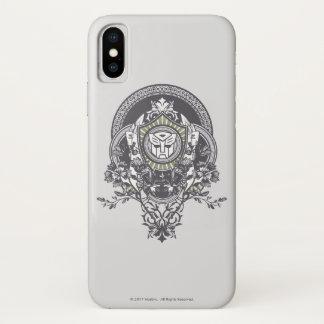 Autobot Floral Badge iPhone X Case