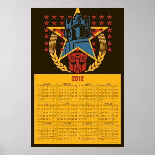 Autobot Patriotic Badge 2012 Calendar Poster