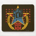 Autobot Patriotic Badge Mouse Pad