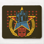 Autobot Patriotic Badge Mouse Pad