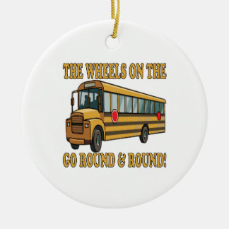 Autobus scolaire décoration de noël