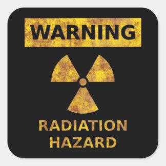 Autocollant affligé de risque d irradiation