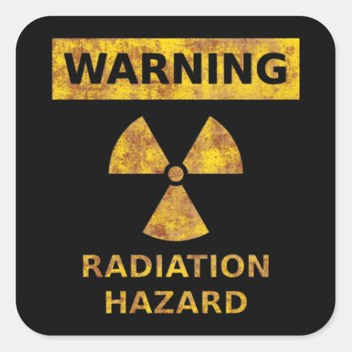Autocollant affligé de risque d'irradiation