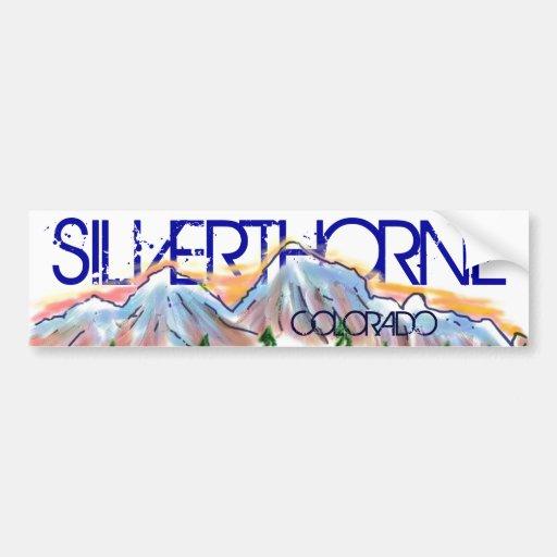 Autocollant artistique de montagne de Silverthorne Adhésifs Pour Voiture