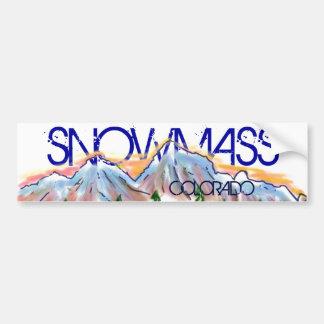 Autocollant artistique de montagne de Snowmass le Autocollant De Voiture