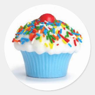 Autocollant bleu de petit gâteau