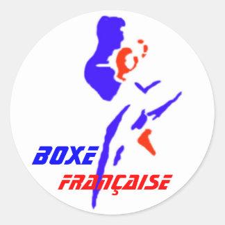 Autocollant Boxe Française Classic Round Sticker