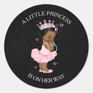 Autocollant de baby shower de princesse Girl