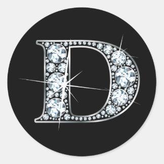 Autocollant de Bling de diamant de faux de D