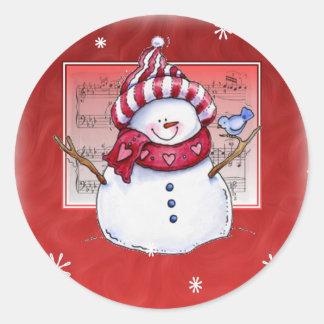 Autocollant de bonhomme de neige de Noël