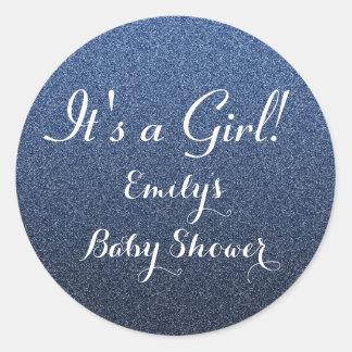 Autocollant de faveur de baby shower de fille de