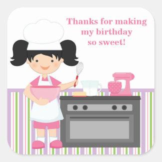 Autocollant de fête d'anniversaire de cuisson