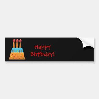 Autocollant de gâteau d'anniversaire d'arc-en-ciel autocollant de voiture