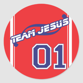 Autocollant de Jésus d'équipe