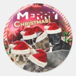 Autocollant de Joyeux Noël (édition de chien)