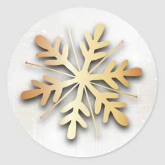 Autocollant de Noël de flocon de neige d or