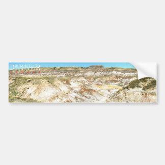 Autocollant de paysage de Drumheller Alberta Canad Autocollant De Voiture