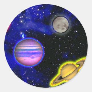 Autocollant de peinture de l'espace