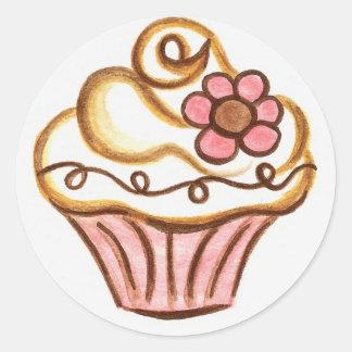 Autocollant de petit gâteau de fleur