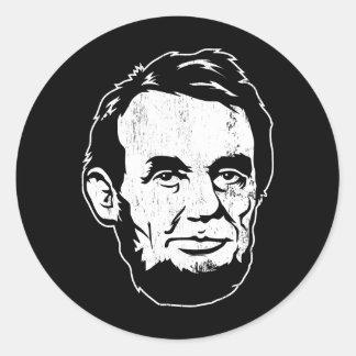 Autocollant de portrait d Abraham Lincoln