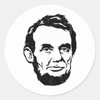 Autocollant de portrait d'Abraham Lincoln