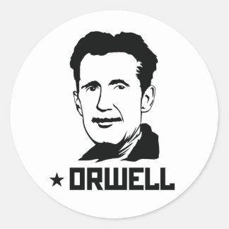 Autocollant de portrait de George Orwell