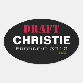 Autocollant de président 2012 ovale de Chris