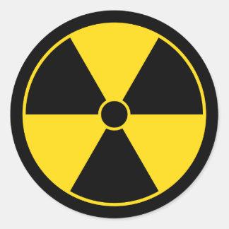 Autocollant de symbole de rayonnement
