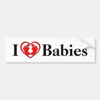 Autocollant De Voiture J'aime l'adhésif pour pare-chocs de bébés