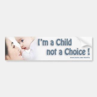 Autocollant De Voiture Je suis UN ENFANT PAS UN BIEN CHOISI…