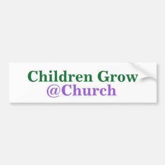 Autocollant De Voiture Les enfants élèvent l'autocollant de @Church