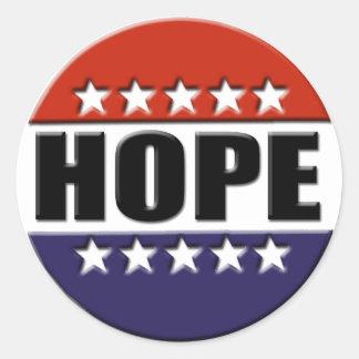 Autocollant d'espoir d'Obama