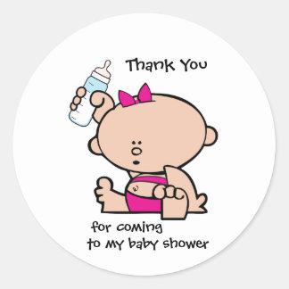 Autocollant d'étiquette de cadeau de baby shower