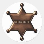 Autocollant d'insigne de shérif d'amusement
