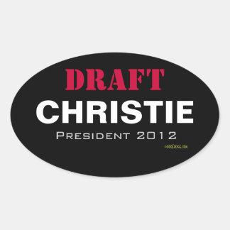 Autocollant d'ovale de Christie 2012 d'ÉBAUCHE