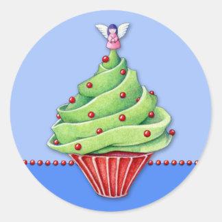 Autocollant du petit gâteau blue2 d'arbre de Noël