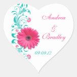 Autocollant floral de joint d'enveloppe de mariage