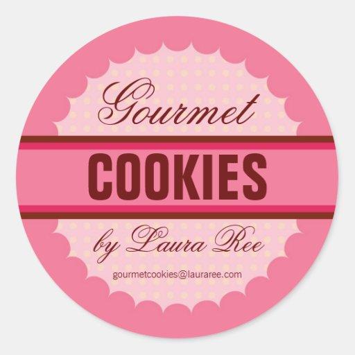 Autocollant gastronome de biscuit
