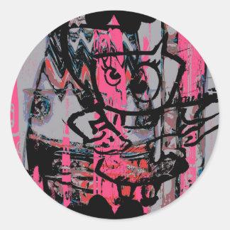 Autocollant graphique grunge de graffiti
