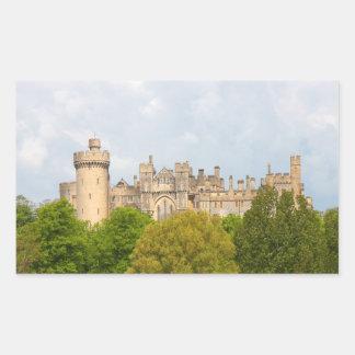 Autocollant historique de photo de château