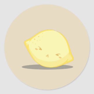 Autocollant jaune mignon de citron